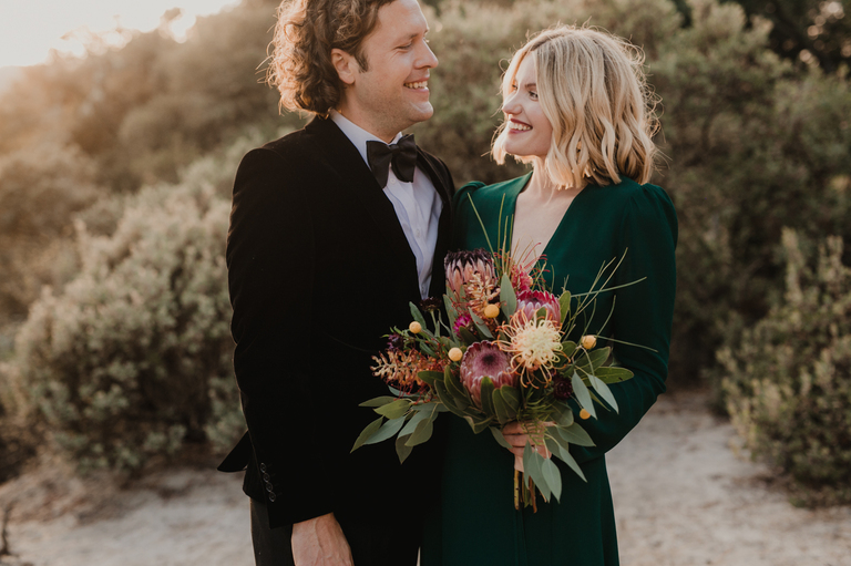 elopement on the side of mountain in felton california